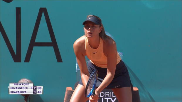 : Madrid - Sharapova passe le 1er tour