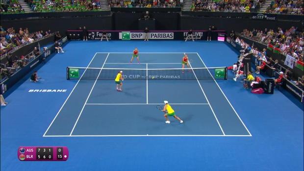 Fed Cup - Victorieuse de ce rallye, la paire Barty/Stosur a envoyé l'Australie en finale