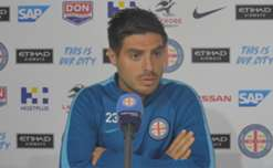 City captain Bruno Fornaroli speaks to the media ahead of Friday's Round 24 clash with Western Sydney Wanderers at Spotless Stadium.