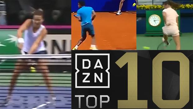 Tennis Top 10: Von Pirouetten bis Tweener-Lobs