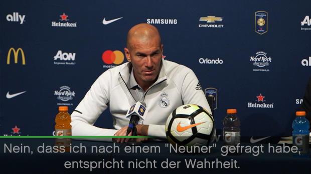 """Zidane: """"Habe nach keinem Neuner gefragt"""""""