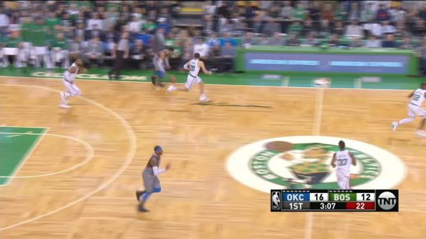 GAME RECAP: Celtics 100, Thunder 99