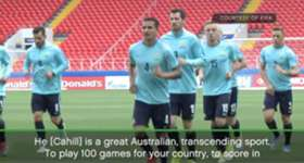 Caltex Socceroos boss Ange Postecoglou says milestone man Tim Cahill transcends sport.