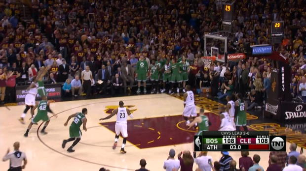 El triple de Bradley que supusó la victoria de los Celtics sobre los Cavs