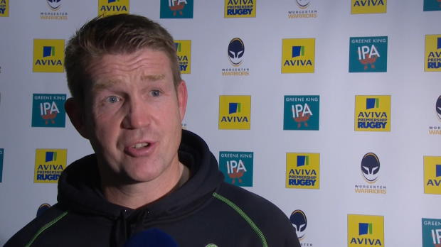 Aviva Premiership - Carl Hogg Interviewed After Worcester v Sale