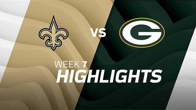 New Orleans Saints vs. Green Bay Packers highlights | Week 7