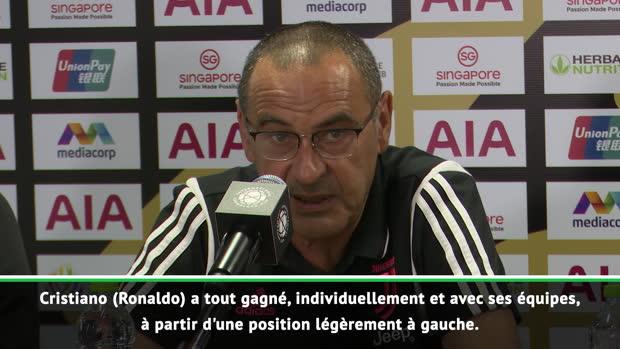 Juventus - Sarri - 'Ronaldo est si fort qu'il peut jouer partout'