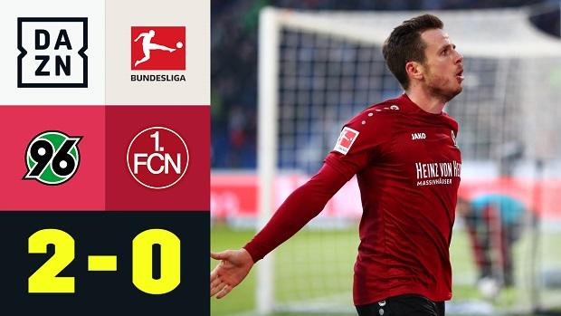 Bundesliga: Hannover 96 - 1. FC Nürnberg | DAZN Highlights