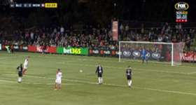 Oriol Riera gave the Wanderers an early lead against Blacktown City with a coolly taken strike from the penalty spot.