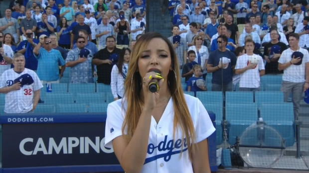 Tinashe sings national anthem