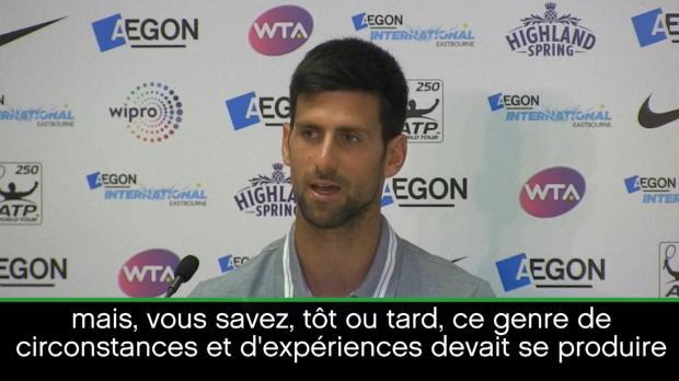 """Basket : Eastbourne - Djokovic - """"Je ne suis pas au niveau des années précédentes"""""""