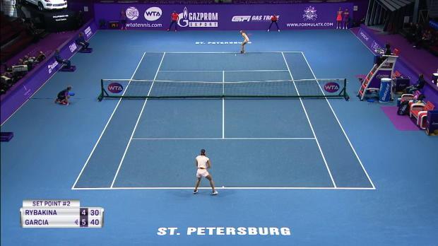: Saint-Pétersbourg - Défaite surprise de Garcia contre Rybakina