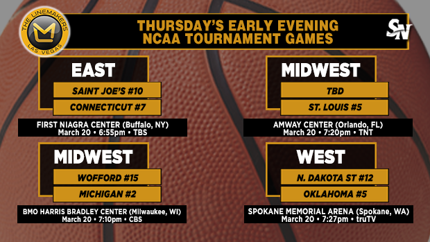 Thursday's early-evening NCAA Tournament games