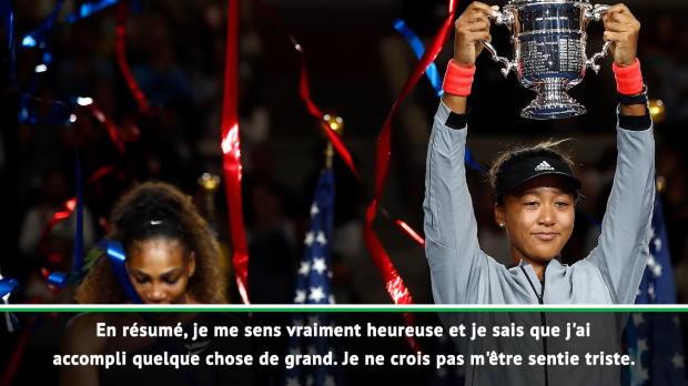 : US Open - Osaka - 'Je ne me suis pas sentie triste'