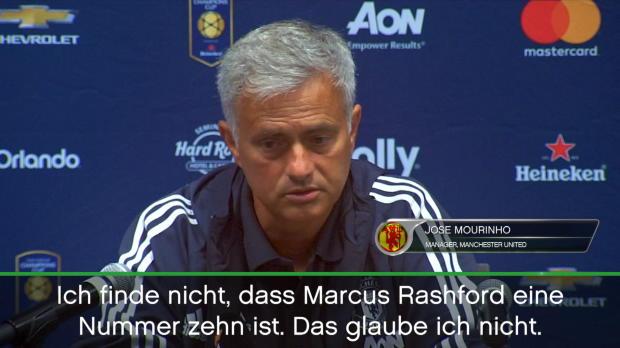 """Mourinho: """"Rashford ist keine Nummer zehn"""""""