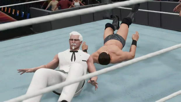 KFC's Colonel Sanders arrives in WWE 2K18