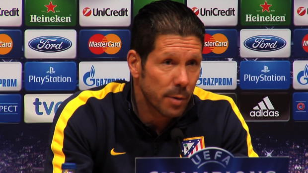LDC - Quarts, Atl�tico Madrid, Simeone : 'Confront� au meilleur Bar�a'