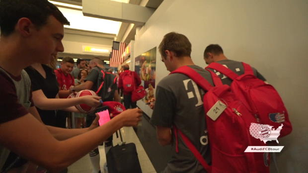 Fans empfangen Lahm, Ribery & Co. in Chicago
