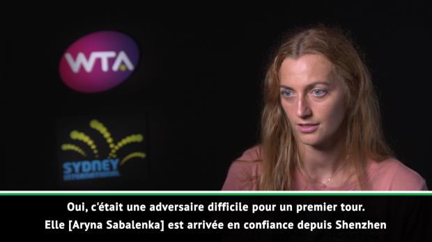: Sydney - Kvitova - 'Contente de ma performance'