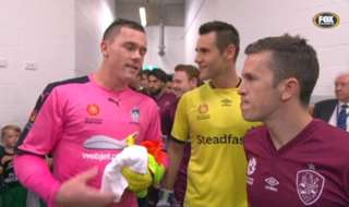 A touching moment of sportsmanship in the tunnel before our clash with Sydney FC