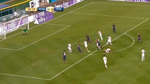 لقطة: كرة قدم: ماركينيوس يفتتح باب التسجيل لفائدة سان جيرمان أمام روما