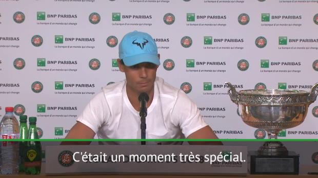 : Finale - Nadal - 'Difficile de décrire ce que j'ai ressenti'