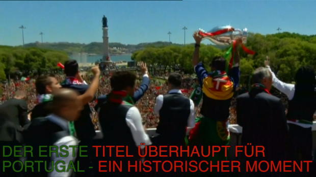 Tausende Portugiesen empfangen Ronaldo und Co.