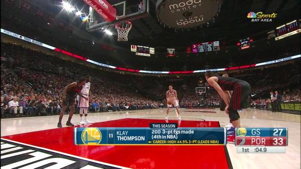 WSC: Klay Thompson (25 points) Highlights vs. Portland Trail Blazers, 03/09/2018