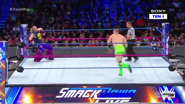 Chad Gable & Shelton Benjamin vs. The Hype Bros vs. Breezango vs. The Ascension - Fatal 4-Way Match for a SmackDown Tag Team Title opportunity: SmackDown LIVE, 10 October, 2017