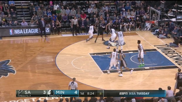 WSC: Mix clip: NBA Stars Players in Minnesota Timberwolves vs. the Spurs, 3/21/2017