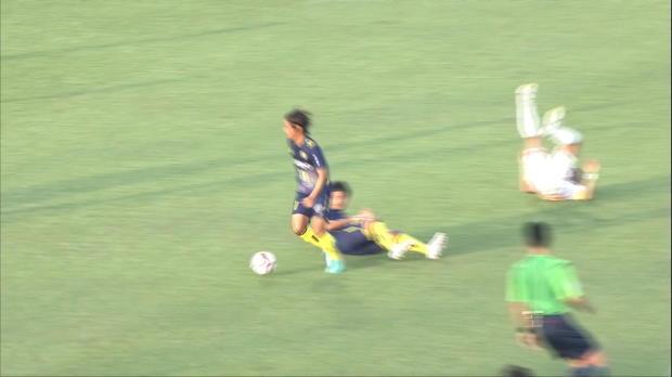 J2-League: Distanzschuss unter die Latte!