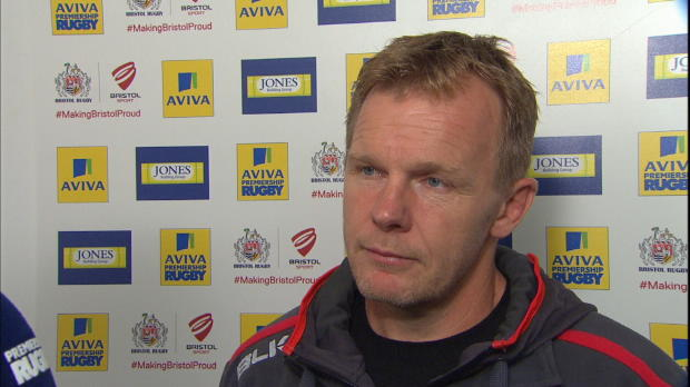 Aviva Premiership - Mark McCall talking about his sides victory over Bristol Rugby