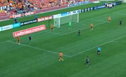 A swift counter attack from Brisbane Roar was finished by Brandon Borello against Central Coast.