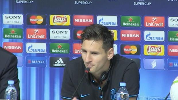 """Supercup: Messi: """"Titel ist wichtig für uns"""""""