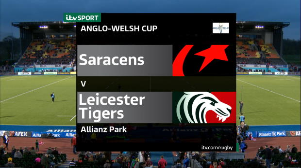 Aviva Premiership - Anglo Welsh Cup Semi Final - Saracens v Leicester Tigers