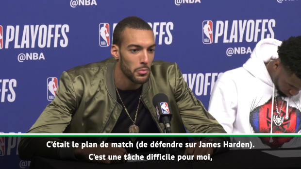 """Basket : Play-offs - Gobert - """"Difficile de défendre face à Harden"""""""