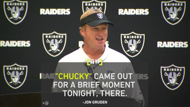 Storybox: Holding call against Oakland Raiders brings out 'Chucky' moment from Jon Gruden