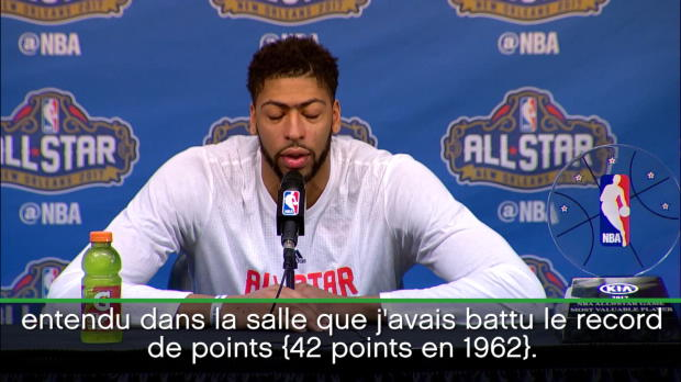 Basket : NBA - All-Star Game - Davis ravi d'avoir battu le record