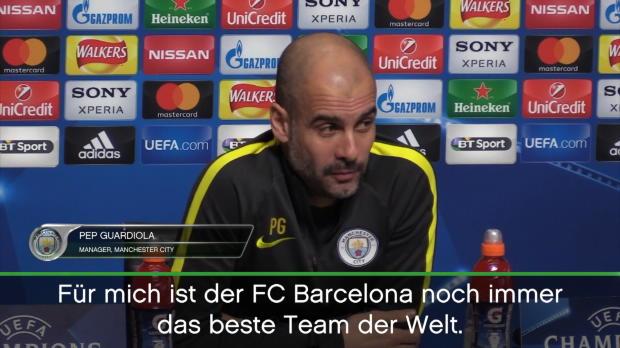 """Guardiola: """"Barca das Beste Team der Welt"""""""