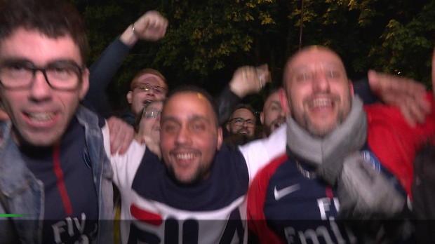 Nach 7:1-Rausch: PSG-Fans feiern Meisterschaft