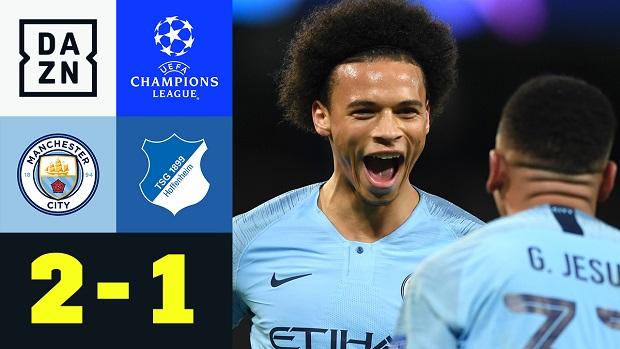UEFA Champions League: Man City - TSG Hoffenheim | DAZN Highlights