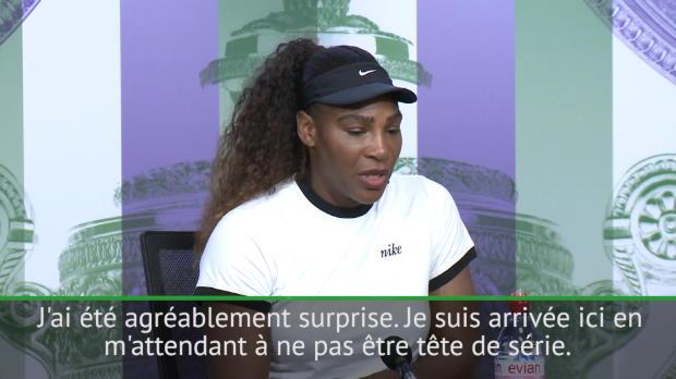 : Wimbledon - Williams - 'Agréablement surprise d'être tête de série'