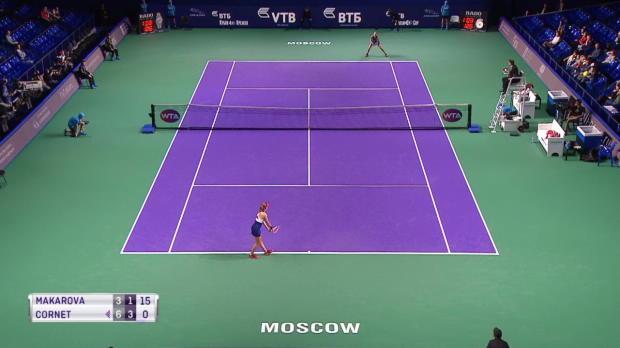 WTA Moskau Makarova - Cornet schöner Punkt