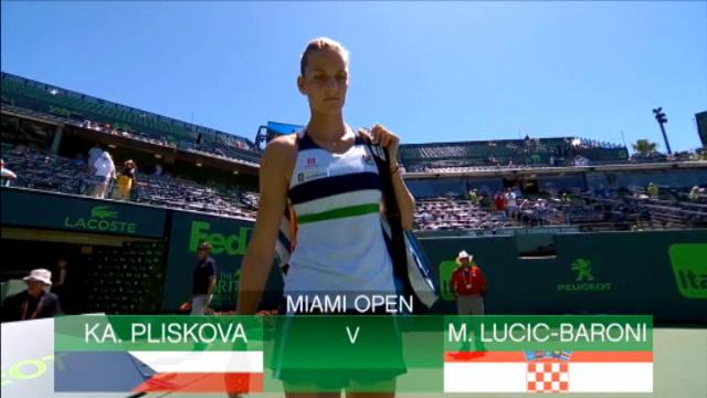 تنس: بطولة ميامي: بليسكوفا تهزم لوسيتش- باروني 6-3 6-4