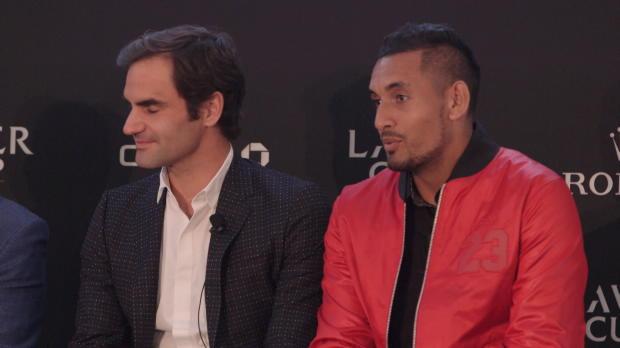 """Kyrgios: Federer & Nadal in einem Team """"unfair"""""""