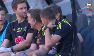 Wellington Phoenix kept their Finals hopes alive with an upset 2-1 win over Brisbane Roar on Saturday night.