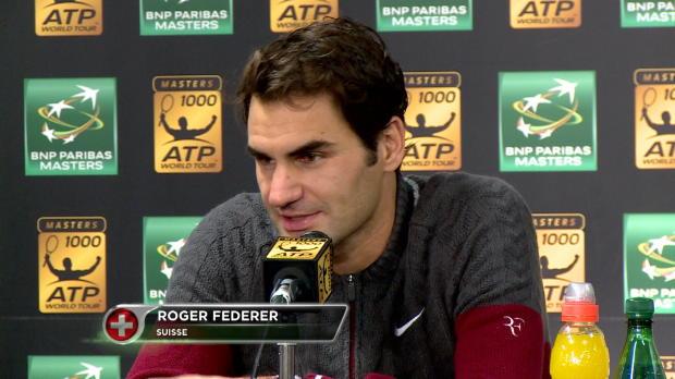 Paris - Federer, tras imponerse a Lucas Pouille