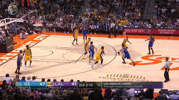 WSC: Stephen Curry 6 three pointer vs lakers