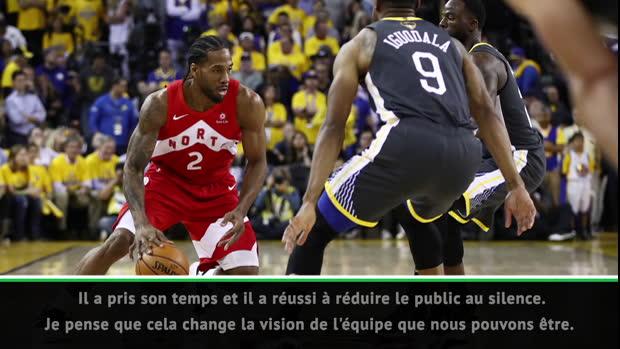 """Basket : NBA - Nurse - """"Leonard nous a porté à de nombreuses reprises"""""""