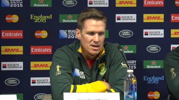 CdM 2015 - De Villiers - '�a va �tre un combat acharn�'